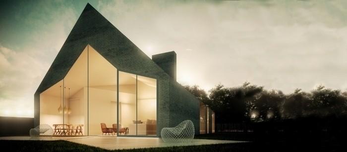 Esquisse de cinq maisons individuelles - stage Atelier Vincent Parreira
